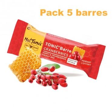 Pack Barre énergétique miel-cranberries-gojis