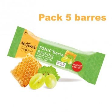 Pack Barre énergétique miel-raisins-amandes