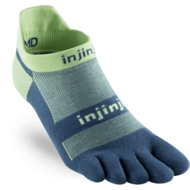 Injinji Run No-Show Light Weight Bleu/lime