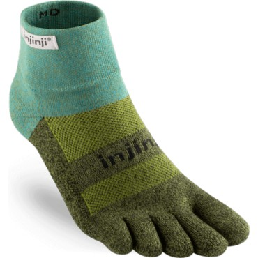 Chaussettes à doigts Trail Midweight Mini-Crew Vert