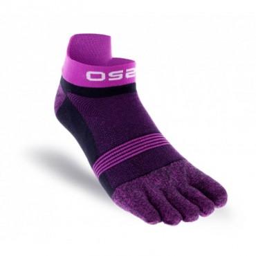 Chaussettes à doigts OS2O Run Lightweight Pourpre