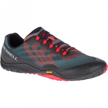 Chaussure minimaliste Trail Glove 4 Shield Homme Noir/Rouge