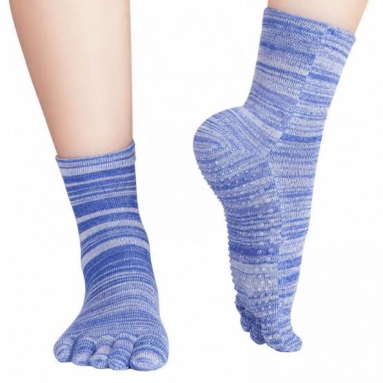 Chaussettes  à doigts Knitido Wellness Massage, Yoga, Pilates bleu
