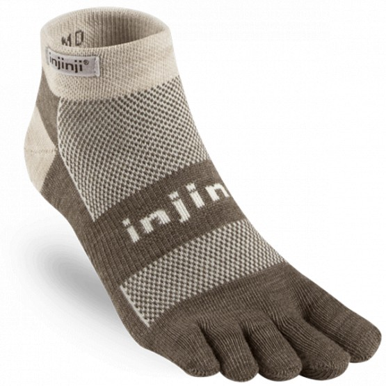 Chaussettes à doigts Outdoor Midweight Mini Crew Nuwool Marron