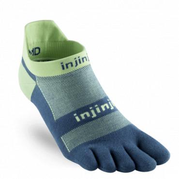 Chaussettes à doigts Run No-Show Orig Weight Bleu-Lime