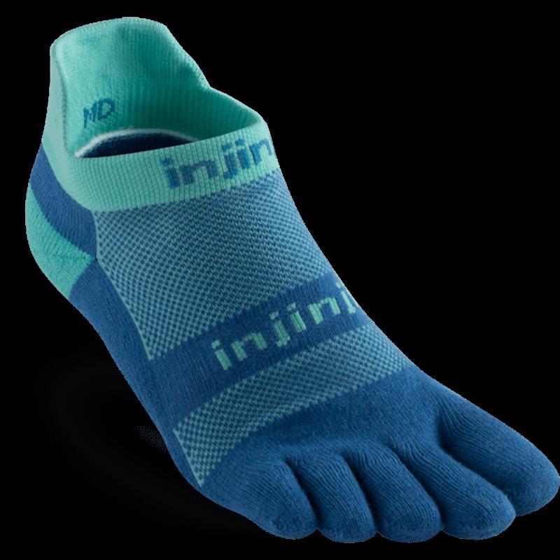 Chaussettes à doigts Injinji no show midweight blue