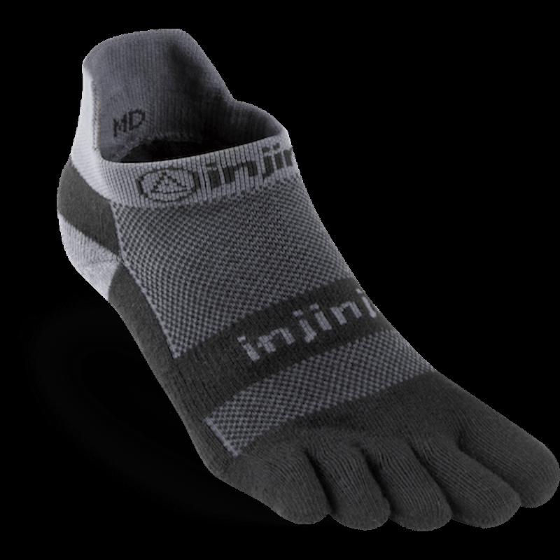 Chaussettes à doigts injinji no show midweight noir/gris