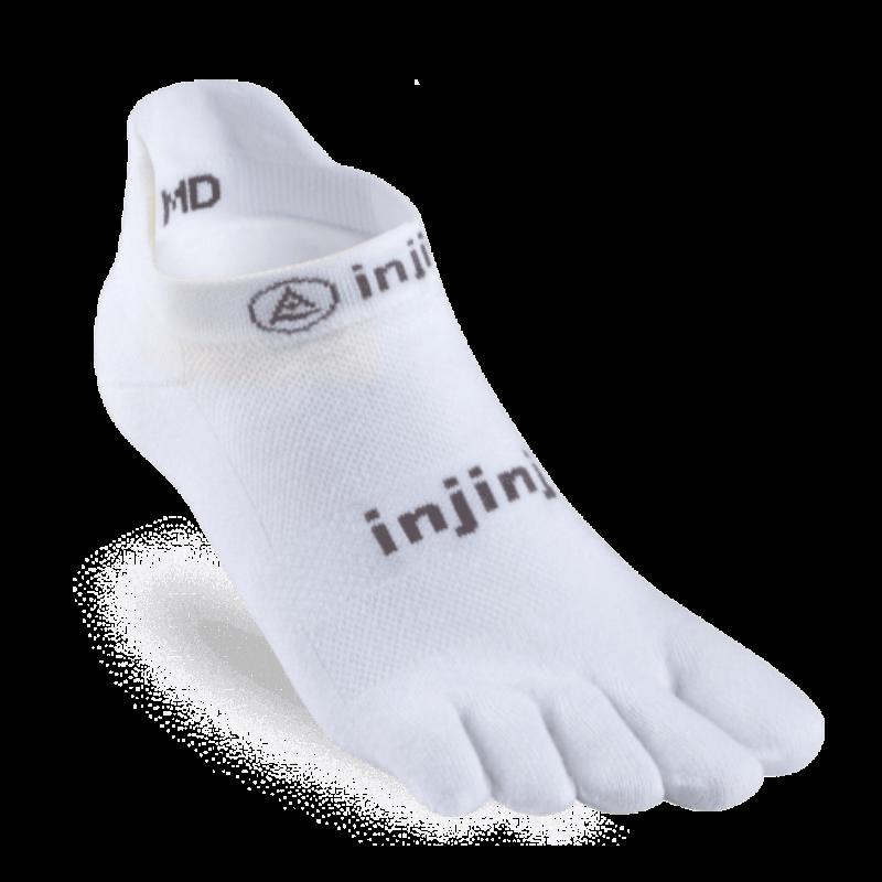 Chaussettes à doigts Injinji no show original weight blanc