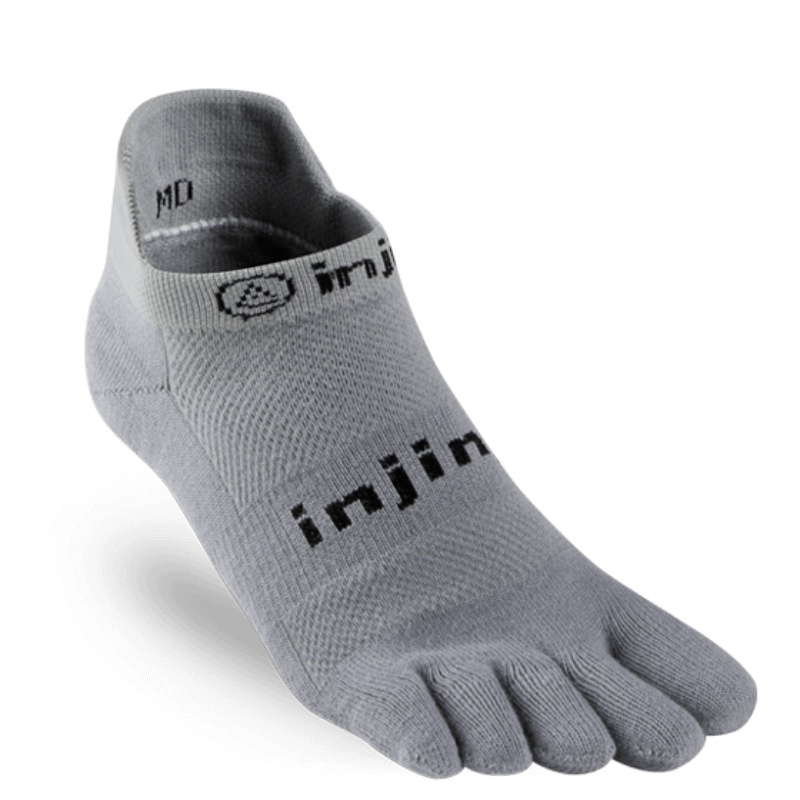 Chaussettes à doigts Injinji no show original weight gris