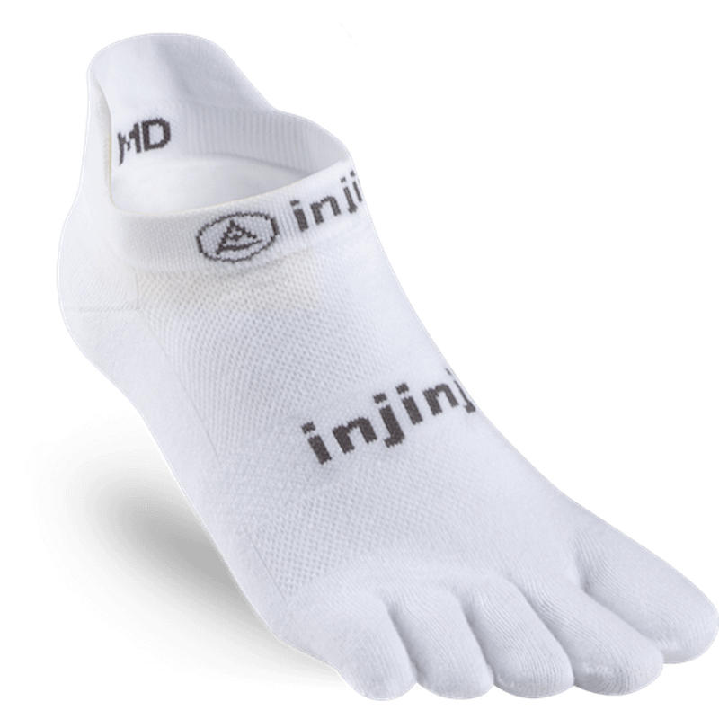 Chaussettes à doigts Injinji no show lightweight blanc
