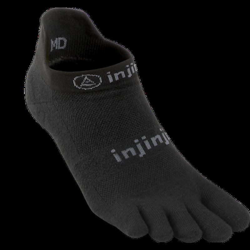 Chaussettes à doigts Injinji no show light weight noir