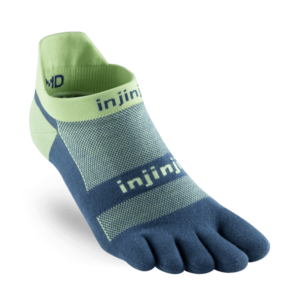 Chaussettes à doigts Injinji no show original weight vert lime