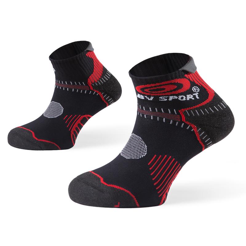 Chaussettes Trail BV Sport STX noir/rouge