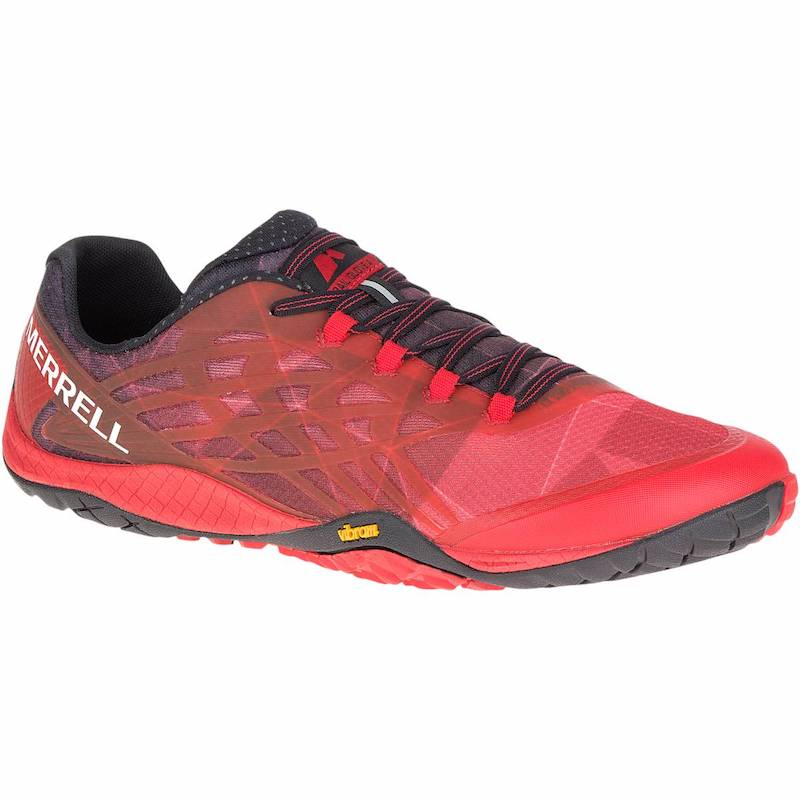 Chaussure minimaliste Merrell Trail Glove 4 Homme Rouge