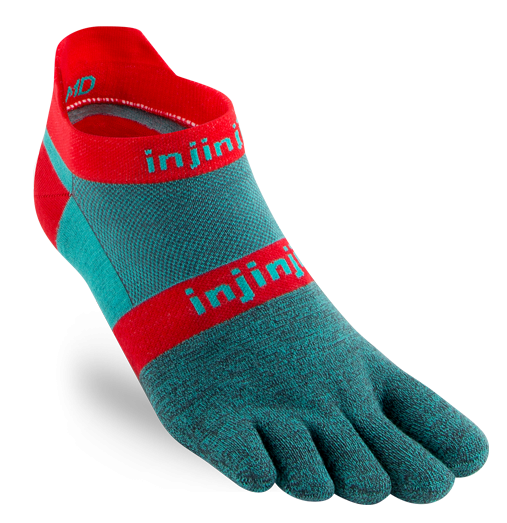 Chaussettes Injinji no show original weight aquaberry