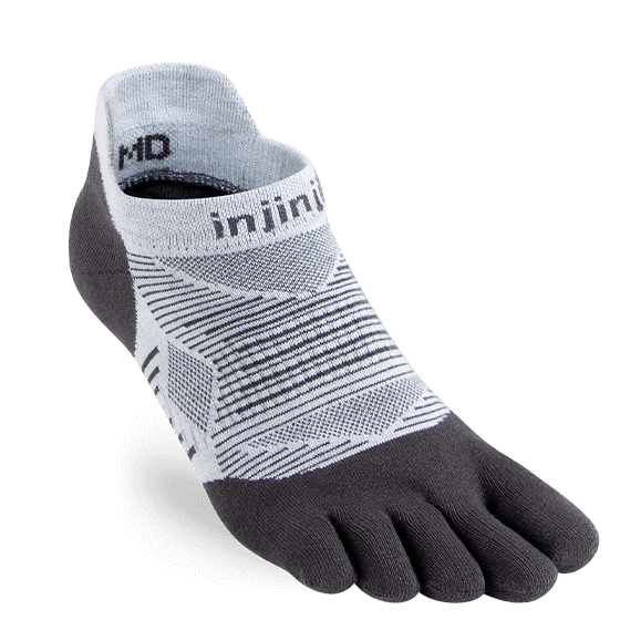 Chaussettes Injinji No Show Light Weight Gris Claire